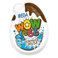 Wow Blue Mega Chocolate Egg Plus Collectable Toy 20g