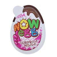 Wow Pink Mega Chocolate Egg Plus Collectable Toy 20g