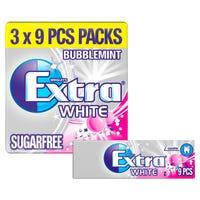 Wrigleys Extra White Bubblemint 3 Pack