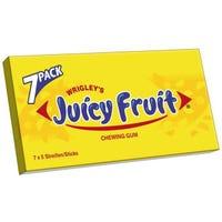 Wrigleys Juicy Fruit Chewing Gum- 7 Pack