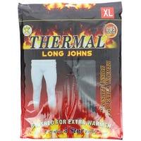 Men Black Thermal Long Johns Extra Large