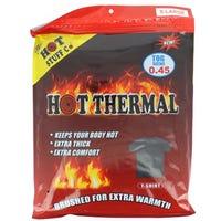 Men's Thermal Black T Shirt Extra Large