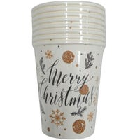 Merry Christmas Paper Cup 8 Pack