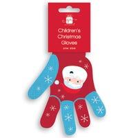 Christmas Childrens Gloves Santa