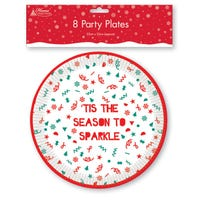 Christmas Paper Plates 8 Pack