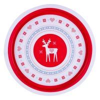 Christmas Tray Reindeer 32cm