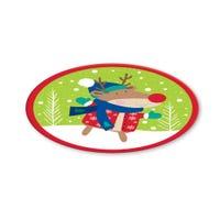 Christmas Melamine Round Plate
