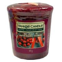 Yankee Candle Home Inspiration Votive Candle Berry and Rhubarb Jam 49g