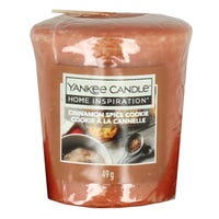 Yankee Candle Home Inspiration Votive Candle in Cinnamon Spice Cookie 49g