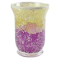 Yankee Candle Jar Holder Purple And Gold Crackled Mosaic 22cm