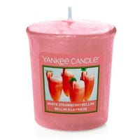 Yankee Candle Home Inspiration Votive Candle Crisp White Strawberry Bellini 49g