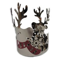 Yankee Reindeer Jar Candle Holder