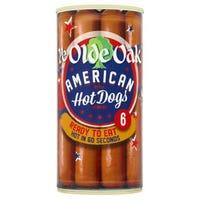 Ye Olde Oak 6 American Style Hot Dogs 560g