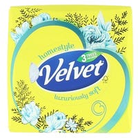 Velvet Cube Tissues Yellow Flowers 3ply