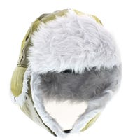 Unisex Check Trapper Hat Yellow