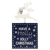 Yuletide Reindeer Block Have A Holly Jolly Christmas Plaque