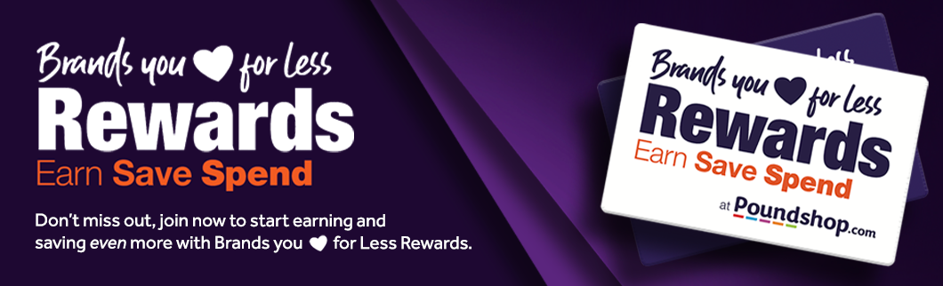 Brands you Love for Less Rewards